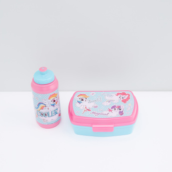 My Little Pony Printed Sandwich Box and Sipper Water Bottle Set