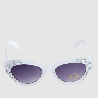 UV Embellished Cateye Sunglasses with Full Rim