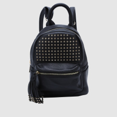Studded Backpack and Zip Closure and Detachable Straps