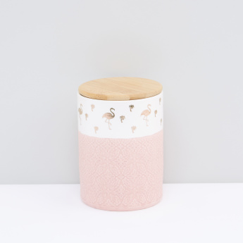 Printed Round Jar with Lid
