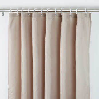 Textured Shower Curtain With Eyelets