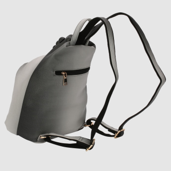 Bucket Backpack with Zip Closure