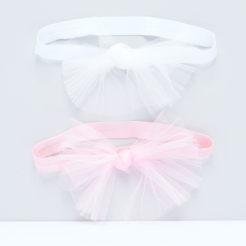 Mesh Knot Elasticised Headband - Set of 2