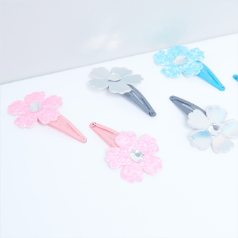 Flower Detail Hair Pin - Set of 6
