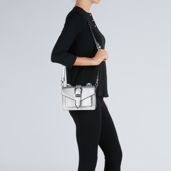 Multi-Pocket Satchel Bag with Handle