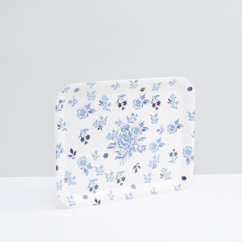 Floral Printed Serving Tray