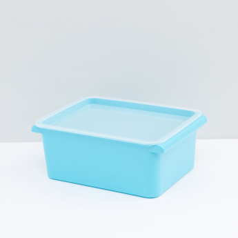 Rectangular Storage Box with Lid and Handles