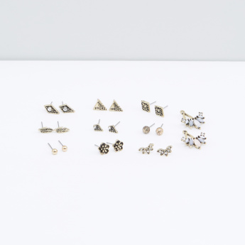 Assorted Earrings with Push Back Closure - Set of 10