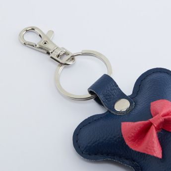 Textured Keychain with Keyring and Hook