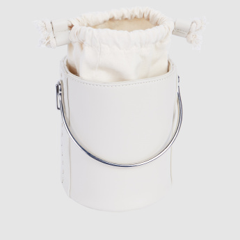 Stitch Detail Bucket Bag with Adjsutable Strap
