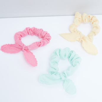 Bow Detail Hair Tie - Set of 3