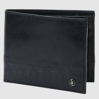 Textured Bi-Fold Wallet with Coin Pocket