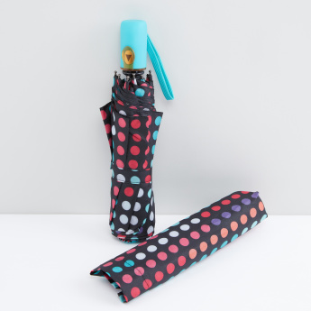 Printed 3-Fold Automatic Umbrella
