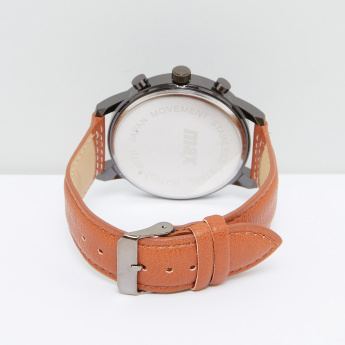 Stitch Detail Wristwatch with Pin Buckle Closure