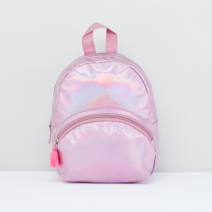 Multi-Compartmemt Backpack with Tassels and Zip Closure