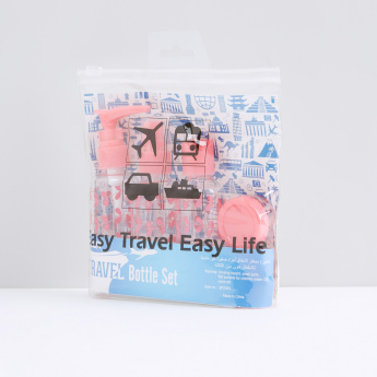 Printed 6-Piece Travel Bottle Set