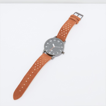 Analogue Wristwatch with Textured Straps