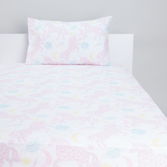 Printed 2-Piece Fitted Sheet Set-120x200x25 cms
