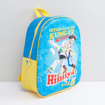 Toy Story Printed Backpack with Zip Closure
