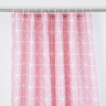 Printed Shower Curtain With Eyelets