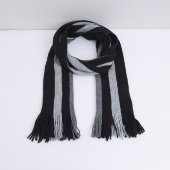 dc87269193e27 Striped Scarf with Fringes | Scarves | Accessories | Men | Online ...