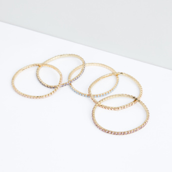 Studded Metallic Bracelet - Set of 5