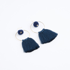 Dangling Earrings with Tassels and Fish Hook