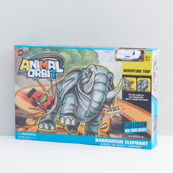 Animal Orbit Elephant Playset with Die Cast Car