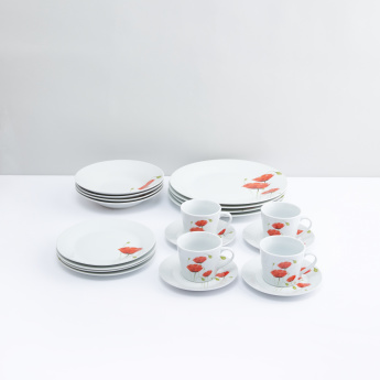 Printed 20-Piece Dinner Set