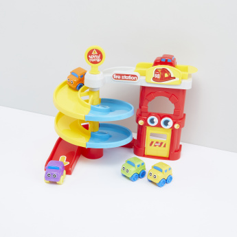Baby Wheels Fire Station Playset