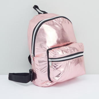 Zip Closure Backpack with Adjustable Shoulder Straps