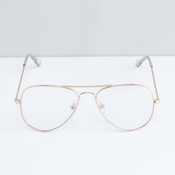 Full Rim Aviator Clear Lens Glasses