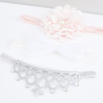 Elasticised Headband - Set of 3