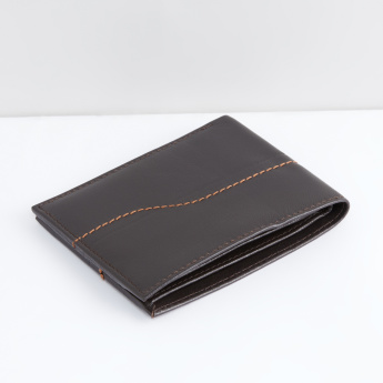 Stitch Detail Bi-Fold Wallet with Multiple Pockets