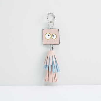 Bag Charm Style Keychain with Tassels