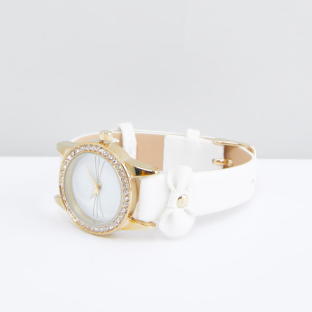 Studded Case Wristwatch with Bow Detail