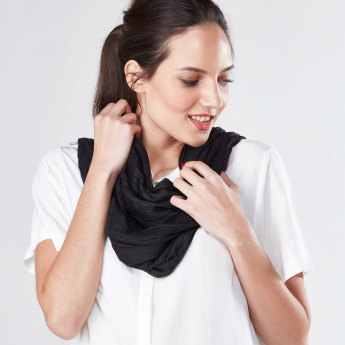 Pleated Rectangular Scarf