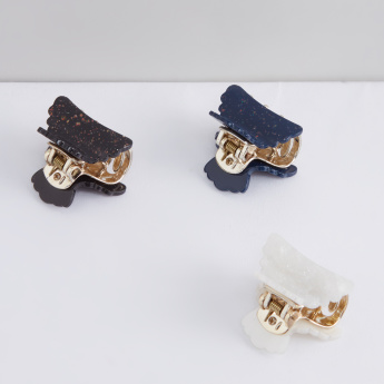 Scalloped Edge Hair Clamp - Set of 3