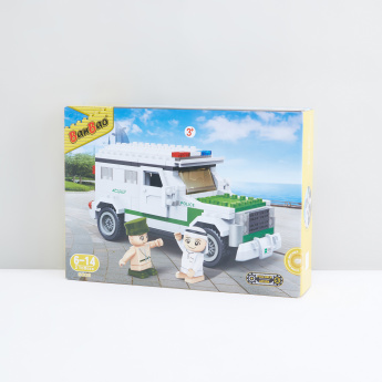 BanBao 250-Piece Arabic Police Car Blocks Set