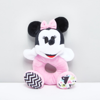 Minnie Mouse Shaped Plush Ring Rattle