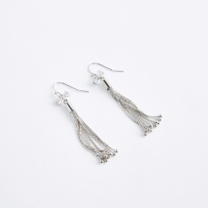 Studded Detail Tassel Earrings