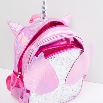 Glitter and Applique Detail Backpack