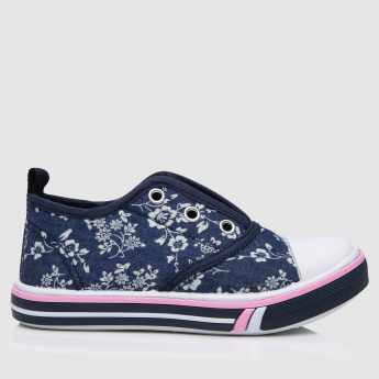 Printed Slip-On Canvas Shoes