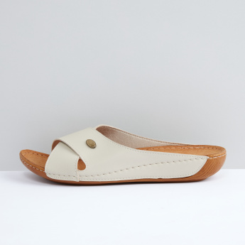 Cross Strap Slip-On Sandals