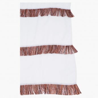 Rectangular Scarf with Tassels