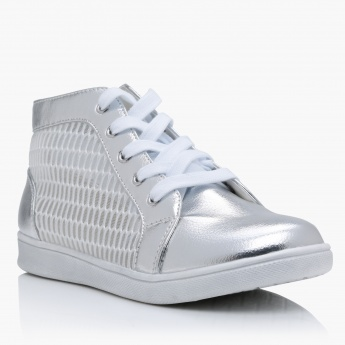 High-Top lace-Up Shoes
