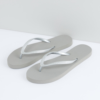 Flip Flops with Metallic Straps