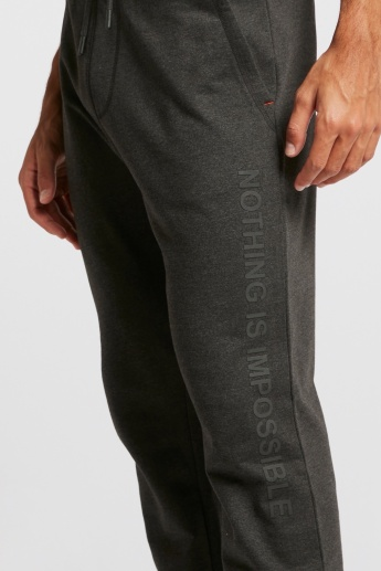 Printed Track Pants with Pocket Detail and Drawstring Closure