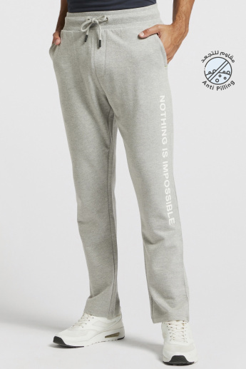 Printed Track Pants with Drawstring and Pocket Detail