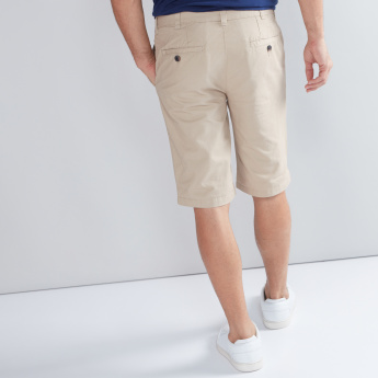 Knee Length Shorts in Regular Fit